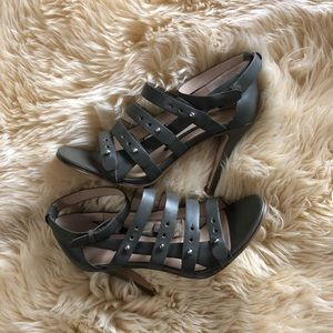 French connection leather strappy sandals
